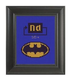 Pattern Funny Cross Stitch Batman