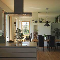 Bodenständig, aber mit moderner Wohnstruktur - Niederösterreich GESTALTE(N) Ceiling Lights, Table, Furniture, Home Decor, New Construction, Boden, Architecture, Decoration Home, Room Decor