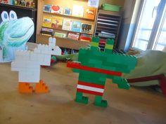 3de KLEUTERKLAS: Kikker is verliefd! Van Lego, Lego Duplo, Lettering, Toys, Winter, Lego Duplo Table, Activity Toys, Winter Time, Clearance Toys