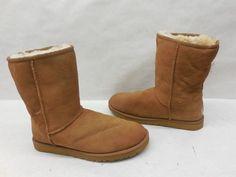 Ugg Australia Womens 5825 Classic Short Chestnut Genuine Shearling Boots Shoes 9…