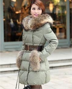 248c5c557a87 27 Best down jacket white duck down winter coat super luxury collars ...