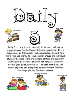 HowtoStartDaily5.pdf  Good explanation to give to other staff members interested in trying Daily 5.  Also has a letter to parents.