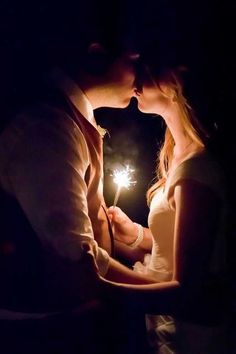 27 Incredible Night Wedding Photos That Are Must See. Night wedding photos look incredible with string lights in background, sparklers or moonlight ❤ See more: http://www.weddingforward.com/night-wedding-photos/ #weddings #photography