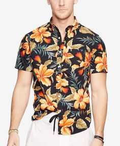 Denim & Supply Ralph Lauren Floral-Print Poplin Sport Shirt