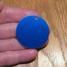 """5 Blue 1.5"""" Anodized Aluminum 20 Gauge Discs Stamping Blanks Tags Disks Circles"""