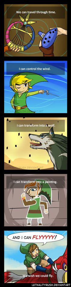 Abilities by Lethalityrush on deviantART #LegendofZelda << And then there's Spirit Tracks. CHOO CHOO.
