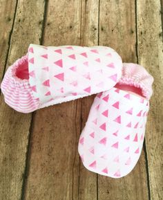 Pink Faded Triangle with Pink Stiped Heel Baby by WithinThePines