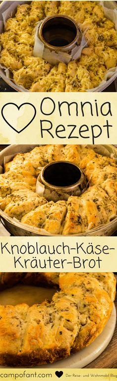 Eigentlich war es nur ein erster Versuch, doch dieses Knoblauch-Käse-Kräuter-Brot ist so genial geworden, dass ich es gleich in meine Omnia Rezepte Sammlung aufgenommen habe.  Zutaten     Mehl   1 EL Trockenhefe   Wasser   1 Tl Salz   4 Knoblauchzehen