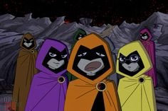 "A Group of Raven's colorful personalities: Teen Titans, Season 1, ""Nevermore"""
