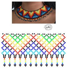 Foto Natali Khovalko Seed Bead Jewelry, Bead Jewellery, Jewelry Making Beads, Beading Patterns Free, Beading Tutorials, Beaded Necklace Patterns, Beaded Cross, Bead Loom Bracelets, Bijoux Diy