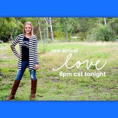 Get ready for tonight! And yes, that is a new elbow patch cardigan <$37 + Free Shipping> tonight at 8pm CST!!! #newarrivals #stripes #elbowpatches #trendalert #fallfavs #falltrends #cardiganobsession #bestdressed #freeshipping #fashionandstyle (at http://www.hazelandolive.com)