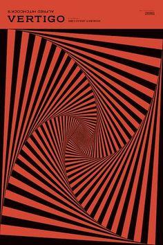 One of the greatest motion pictures ever made. And sensational graphic design too. Alfred Hitchcock's Vertigo