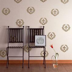 Stencils | Fleur de Lis Garland Wall Stencil | Royal Design Studio