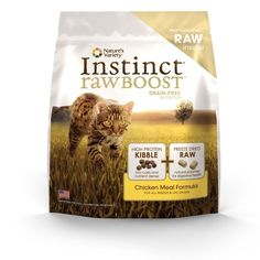 Instinct Raw Boost Grain-Free Chicken Meal Formula Dry Cat Food by Nature's Variety, 5.1-Pound Bag >>> Read more reviews of the product by visiting the link on the image. (This is an affiliate link and I receive a commission for the sales)