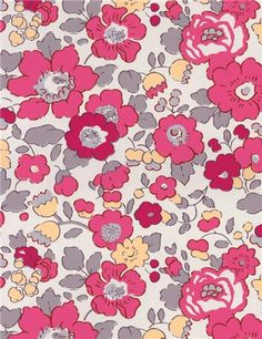 Liberty Betsy W Bougainvillée exclusif Stragier / m - Motif Liberty, Liberty Betsy, Liberty Fabric, Liberty Print, Surface Pattern Design, Pattern Art, Fabric Patterns, Print Patterns, Christening Themes