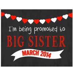 Chalkboard pregnancy announcement- chalkboard pregnancy, announce pregnancy, we're expecting sign, pregnancy photo prop, big brother sign on Wanelo