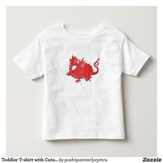 Toddler T-shirt with Cute Red Dragon: up to $21.35 - http://www.zazzle.com/toddler_t_shirt_with_cute_red_dragon-235966956158066804?rf=238041988035411422&tc=pintw