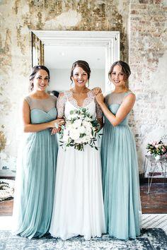 seafoam green bridesmaids | Erin L. Taylor Photography | Glamour & Grace
