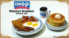 IHOP inspired Miniature Breakfast - Polymer Clay Tutorial - Published on Feb Barbie Dolls Diy, Barbie Food, Doll Food, Girl Dolls, Mcdonalds Happy Meal, Tiny Food, Fake Food, Miniature Crafts, Miniature Food