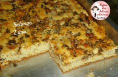 Torta de sardinha e queijo - Espaço das delícias culinárias