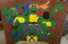 Teenage Mutant Ninja Turtles Hand Drawn and Painted Photo Op Display / Cutout Board!