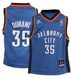 37e979018a5 Toddler Oklahoma City Thunder Kevin Durant adidas Light Blue Jersey