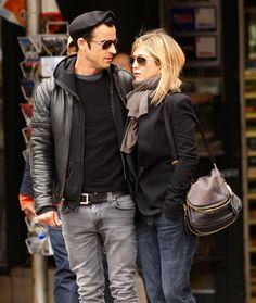 Jennifer Aniston- casual style. Like the jacket