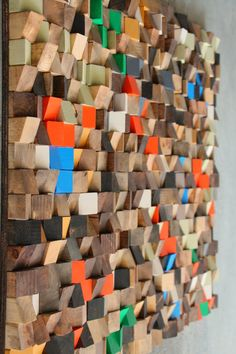 Large Wood wall sculpture, Abstract wood art, Reclaimed Wood wall Art, Wood…
