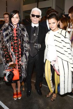 From Fendi to Moschino, see who wore what to the front rows of Milan's shows.