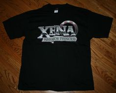 New official XENA WARRIOR PRINCESS T-Shirt logo 90s black Tee-Adult XL-fantasy