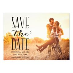 Vintage Whimsy | Photo Save the Date Custom Announcements