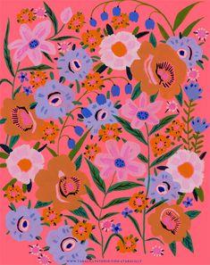 Pattern — Tara Lilly Art & Illustration Pattern Art, Surface Pattern Design, Abstract Pattern, Textiles, Floral Prints, Art Prints, Print Wallpaper, Pattern Illustration, Textures Patterns