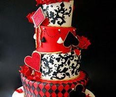 Poker themed wedding cake - Τούρτα με θέμα πόκερ