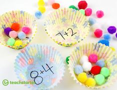 Five awesome ideas for hands-on, simple addition activities. You don't reinvent the wheel when these maths activities are tried and tested (and FUN)! # home schooling uk reception Hands-On Addition Activities for the Classroom Addition Activities, Math Addition, Simple Addition, Addition Games, Activity Ideas, Maths Eyfs, Eyfs Activities, Numeracy, Maths Games Ks1