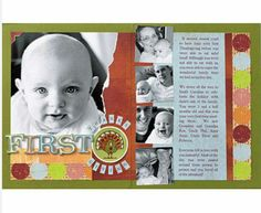 BHG.COM- THANKSGIVING SCRAPBOOK PAGES