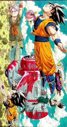 Manga Anime, Anime Naruto, Dragon Z, Dragon Ball Z, Dragonball Art, Vegito Y Gogeta, Kid Goku, Animes Wallpapers, Manga Illustration