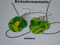 Pendientes Discos de lata de Entodomemeto por DaWanda.com