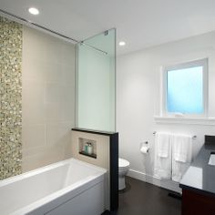tub shower combo glass wall privacy film