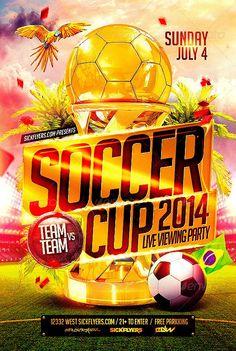 Brazil Soccer Cup 2014 Football Flyer
