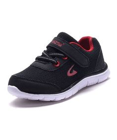 Black & Red Sneaker #zulily #zulilyfinds