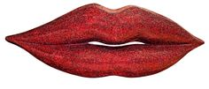 Extra Large Red Mosaic Crackle Finish Lips Wall Decoration