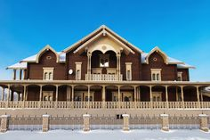 Wooden Russian country mansion a.k.a. dacha