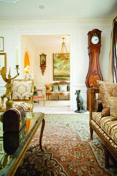 C'est La Vie: Designer Matt Nicholas' love of antiques is evident throughout his Jackson home. Photo by Ron Blaylock for Mississippi Magazine.