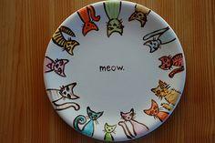 Porzellan bemalen - Katzen
