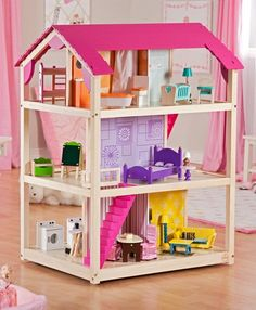 Kidkraft so chic dollhouse 65078 with furniture: surprising gift for your little angel and the best comfortable place for dolls and other toys.