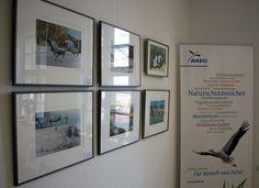Ausstellung Faszination Kraniche in der Naturschutzstation Schwerin | Kranich Aquarelle bei NABU Schwerin (c) Frank Koebsch