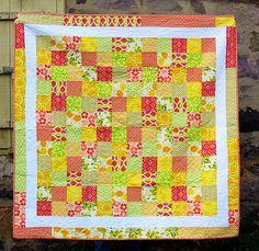 Summer Citrus Framed Patchwork quilt by Greenleaf Goods tutorial