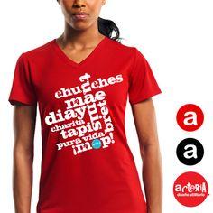 Camiseta Para Mujer Diseno Collage Costarriquenismos