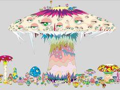 Takashi Murakami http://archives.arte.tv/static/c2/agendaexpos/murakami/champignon.jpg