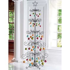 Christmas Ornament Display Tree-7 ft+ tall, think this is unique and lovely  for